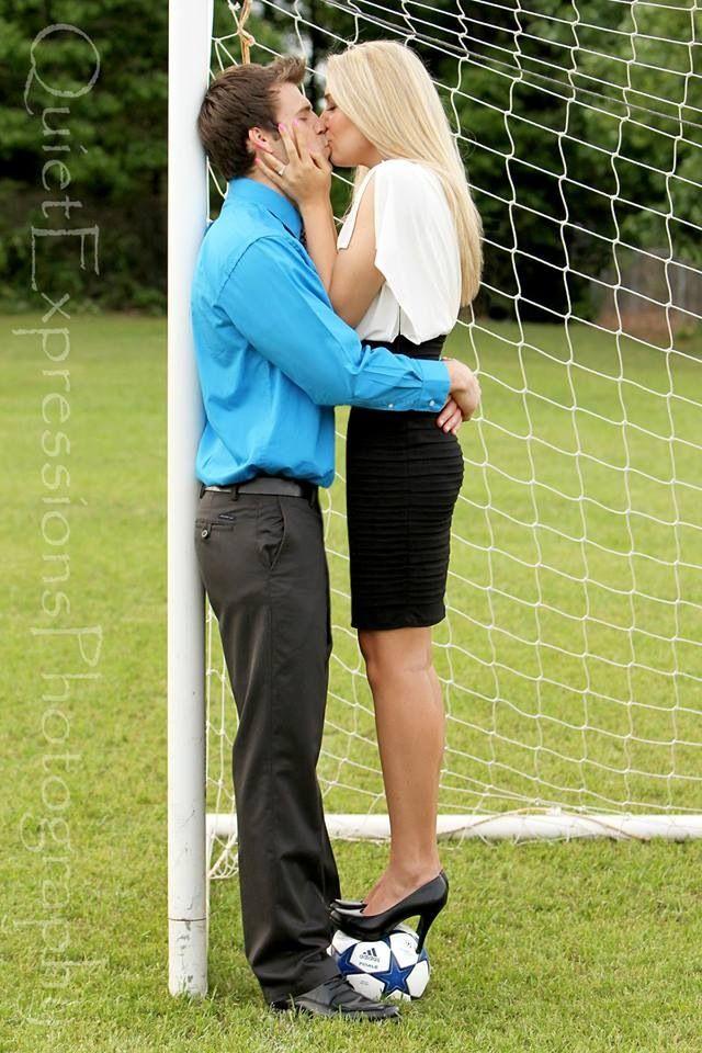 Engagement...soccer...adorable!