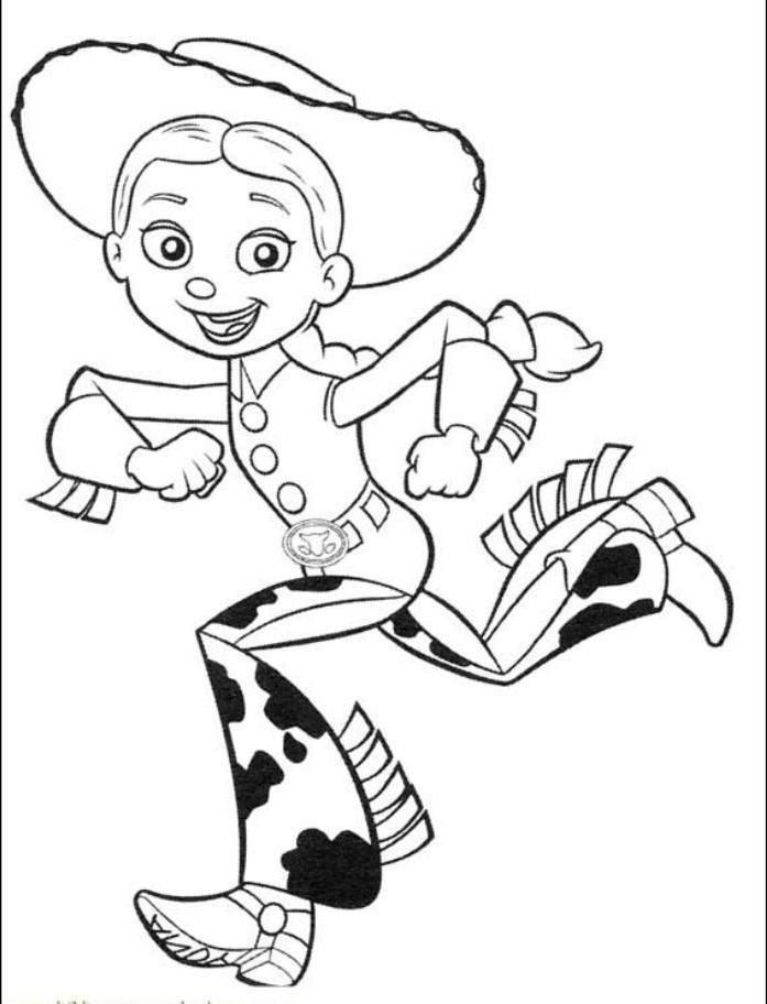 Toy Story Jesse Run Coloring Page Toy Story Coloring Pages Disney Coloring Pages Coloring Pages