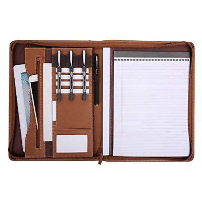 ﹩24.59. Leathario File Portfolio Case Ring Binders Folder Padfolio Writing Pad Business    - Portfolio Case Ring Binders, EAN - 0604007933431
