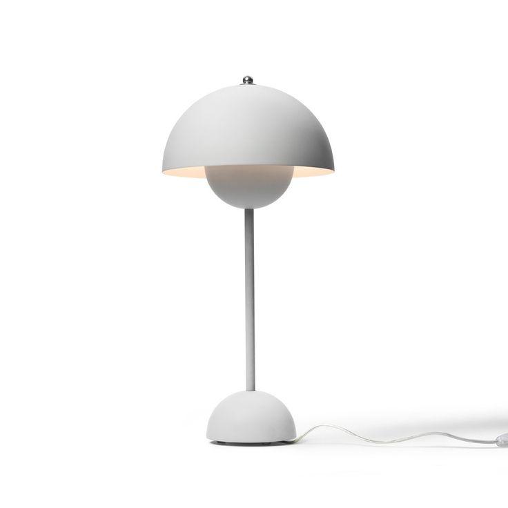 Flowerpot VP3 bordslampa - Flowerpot VP3 bordslampa - matt light grey