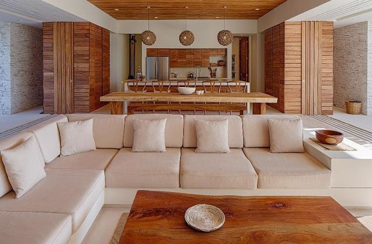 Modern home with Living Room, Recessed Lighting, Ceiling Lighting, Sofa, and Coffee Tables. Photo 3 of Casa Xixim