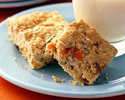 Oat and apricot slice