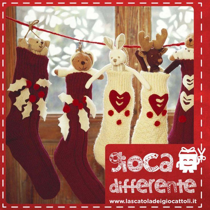 Le Calze della Befana personalizzate sono ancora più belle da appendere, e riempire di dolcetti! #giocadifferente