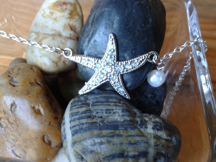Starfish and Pearl necklace by jennsbling on Etsy
