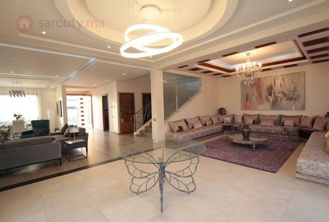 Belle villa de 410 m² à 7 min du Morroco mall - ref Hadaik rabii2 | sarouty.ma