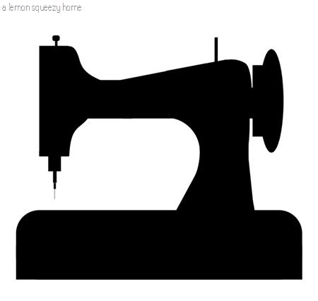 Printable...you never know when you might need to print a sewing machine.  Scerenschnitte, silhouette, papercutting...
