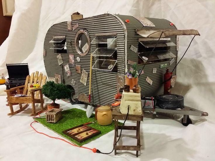 Retro Travel Trailer miniature