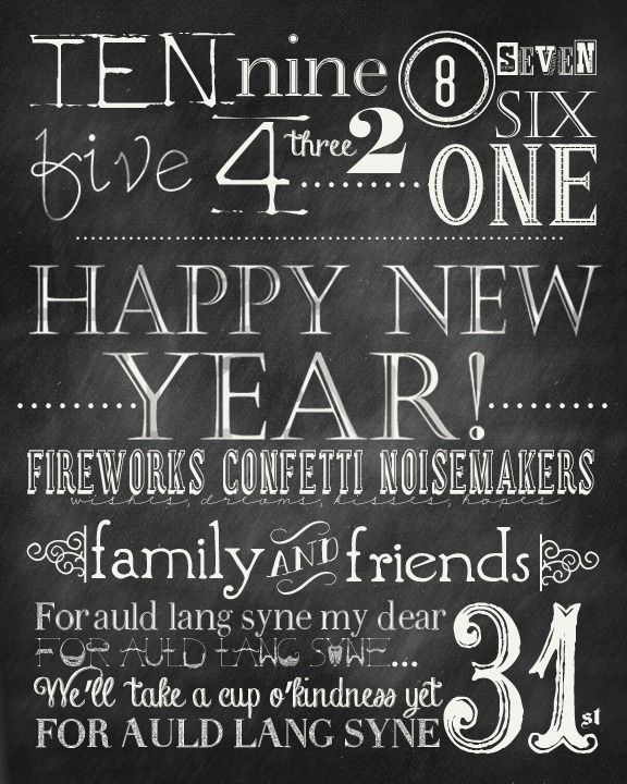 10 best images on pinterest children deko and do free new years printable and party kit invitations food toppers food and solutioingenieria Choice Image