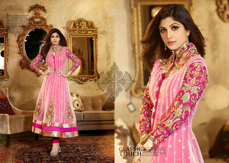 $84.00 Be an angel & create establish a smashing affect on everybody by carrying this Off White & Pink Net Salwar Kameez. http://www.sareeonline.com/proj/gallery/fullview.aspx?scode=qrs1567