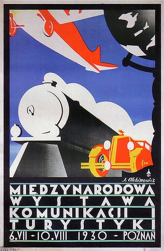 Transportation icons were prevalent in Art Deco posters.