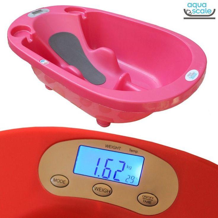 Aqua Scale Tartılı Termometreli Akıllı Bebek Küveti Pembe #bebek #alışveriş #indirim #trendylodi  #anne #bebekbakım #bebekbanyoürünleri #bakım #banyo