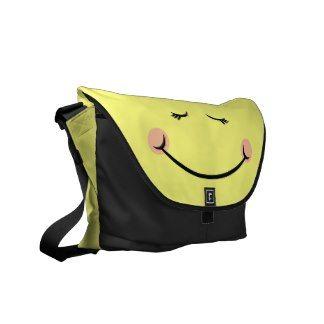 Sleepy Kawaii Happy Face Courier Bag