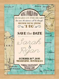 Getting married and closing the distance between you and your loved one? This is the perfect way to announce your wedding! LDR Save the Date Cards