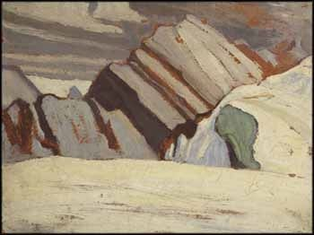 """Mountain Sketch,"" Lawren Stewart Harris (attr.), oil on board, 10.7 x 13.7"", private collection."