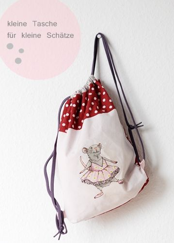 Nähanleitung Rucksack, Tutorial Kindergartentasche,