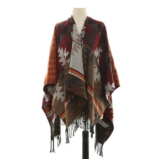 Poncho ethnique - Collection Bonnet-écharpe-gants - Pimkie France 25.99