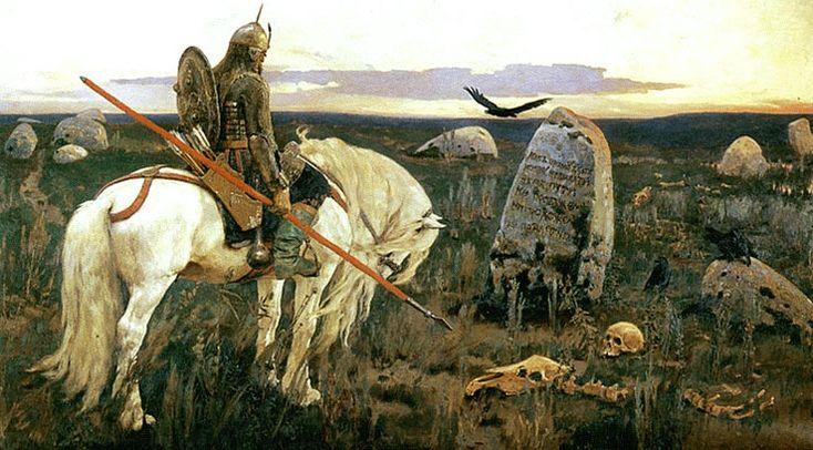 """Viktor Vasnetsov, """"A Knight At the Crossroads"""""""