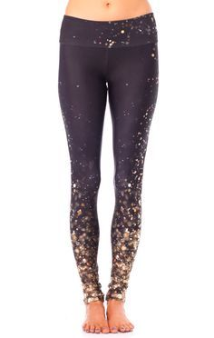 The gorgeous Falling Lights legging from Gold Sheep Clothing. We can't keep these on the shelf so get them now at evolvefitwear.com