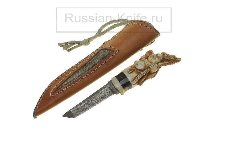 """Нож """"Шоусина"""" Дамаск, рог лося, кожа. """"Showsin"""" knife. Damascus, antler, leather. #купить #авторский #нож #ручной #работы #ножи #изготовление #охотничьи #тактические #оружие #ножик #эксклюзив #ручнаяработа #подарокмужчине #мачете #ножны #холодное #knife #knives #customknives #handmade #knifecommunity #knifecollection #weapon #giftforhim #machete #blade #blades #hunting #survival"""