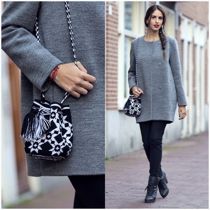 Mini mochila and oversized coats