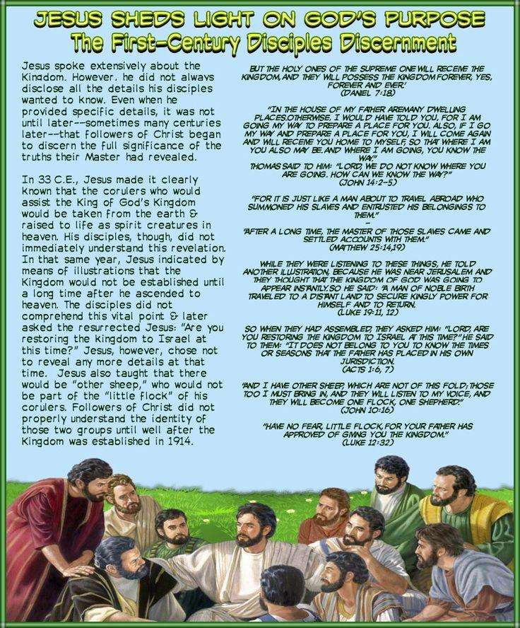 Jesus Sheds Light on God's Purpose//The First-Century Disciples Discernment(Luke 12:32)(John 10:16)(Acts 1:6, 7)(Luke 19:11, 12)(Matthew 25:14,19)(John 14:2-5)(Daniel 7:18)