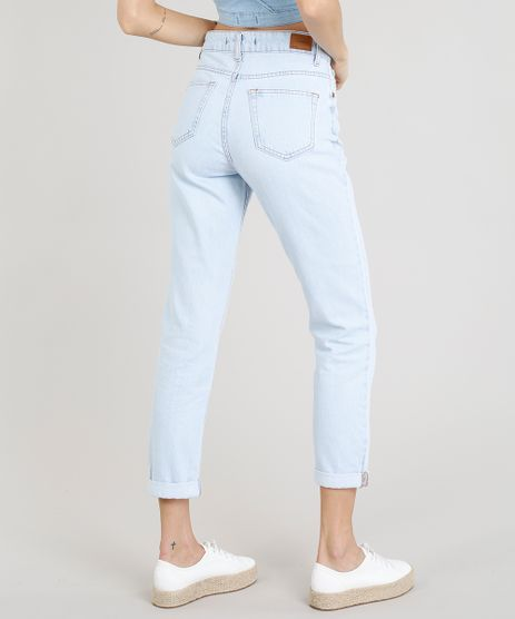 d7e702466 Calça Jeans Feminina Mom Pants Azul Claro