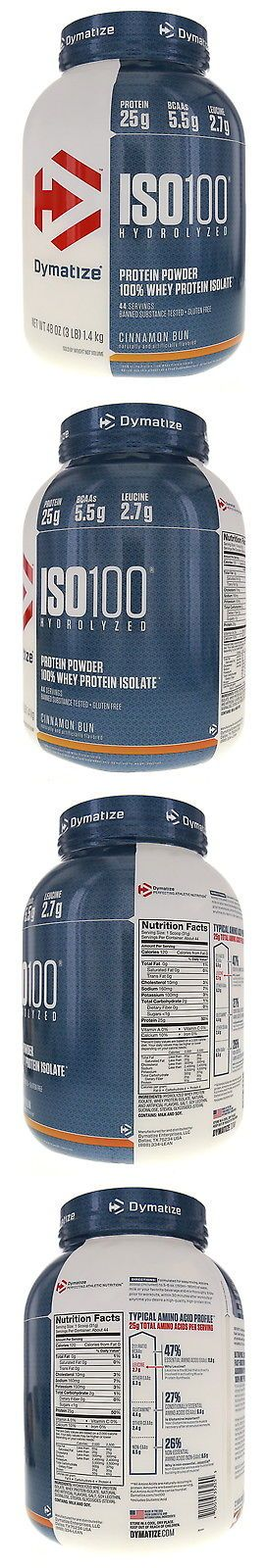 Other Sports Supplements: Dymatize Iso-100 Hydrolyzed 100% Whey Protein Isolate - Cinnamon Bun - 3 Lbs -> BUY IT NOW ONLY: $54.11 on eBay!