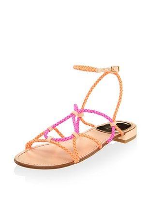 49% OFF Stuart Weitzman Women's Cordy Sandal (Sherbert Laniard)