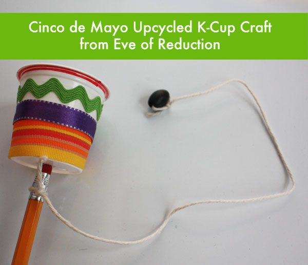 This Cinco de Mayo craft doubles as game:  balero , an ancient Mexican challenge where your kids try to hike the ball into the cup. And the cool thing is, it's made out of a recycled Keurig Cup and other items lying around your house.  More From  The Stir :  8 Ways to Upcycle K-Cups Into Cool Kid Crafts (PHOTOS)