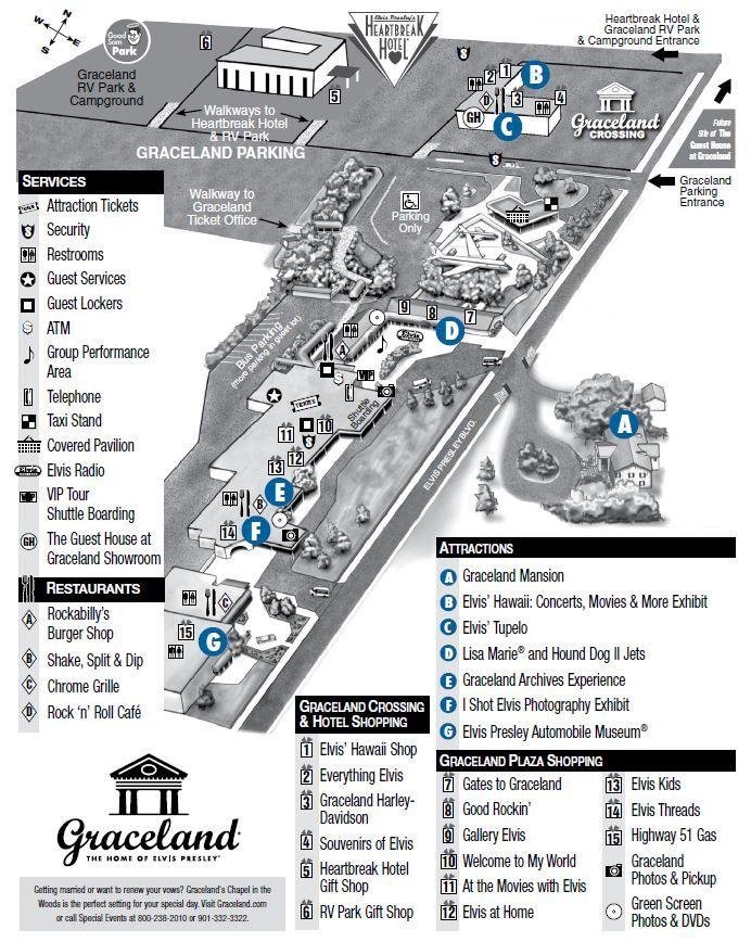 Graceland Property Map Plan Your Visit Elvis Presley 39 S