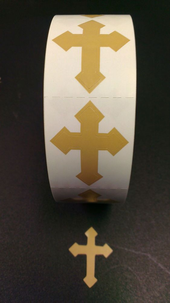 Tanning Bed Body Stickers Tattoo   Cross  Quantity 1000 Stickers on a Roll #AtlanticTan