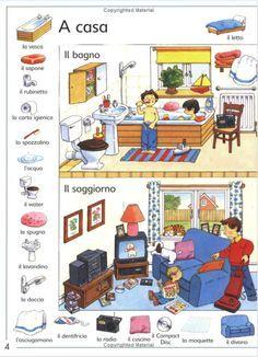 vocabolario italiano con disegni casa - Szukaj w Google