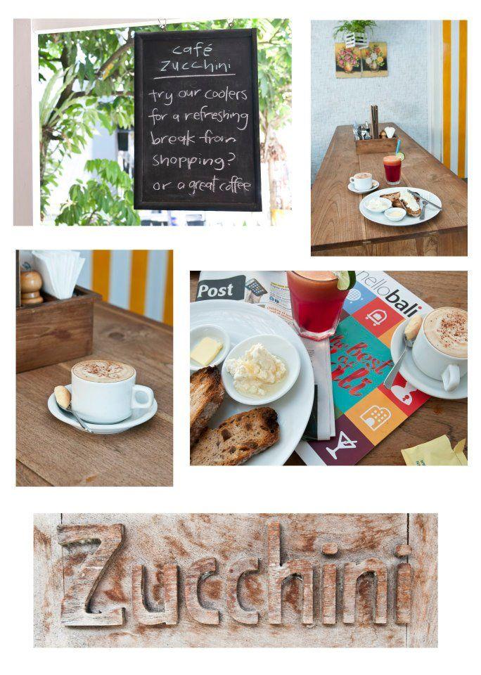 Cafe Zucchini - Jl. Laksmana No. 49 Benoa Kuta Badung Bali Indonesia  7.00am-9.00pm