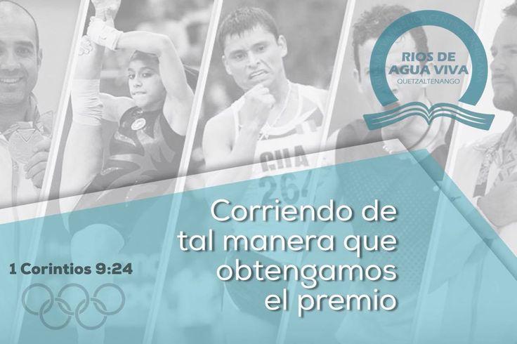 """""""¿No sabéis que los que corren en el estadio, todos a la verdad corren, pero uno solo se lleva el premio? Corred de tal manera que lo obtengáis."""" 1a Corintios 9:24 #Rio2016 #SomosGUA #Guatemala  #GuateEnRío #Olimpiadas #IcaRiosXela"""