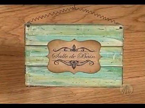 Sabor Artesanatos - Plaquinha Decorativa | 31 de Julho de 2012 - YouTube - Gillian Demori Lopes