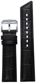 """16mm Ladies Black Genuine """"Hirsch"""" Princess Strap with Match Stitching 110/70 16/14"""