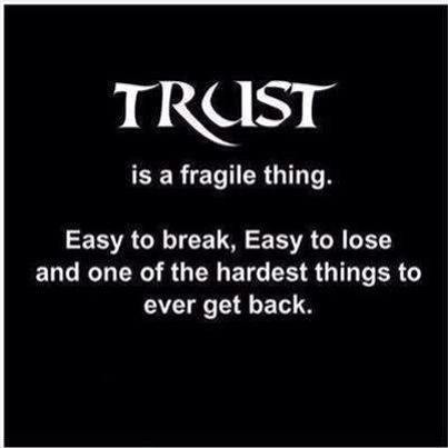 Trust.. Powerful Words...  When ur hurt ova n ova ..  Will I trust U?...