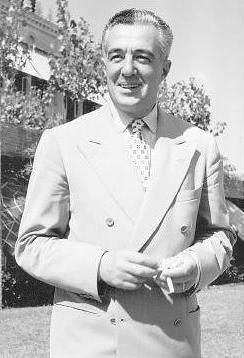 """Vittorio De Sica (1901 - 1974) Acclaimed Italian director and actor, he was known as an exponent of the neorealist school of Italian cinema after World War II, among the films he directed are """"The Bicycle Thief"""" (Ladri di Biciclette) and """"Two Women"""" (La Ciociara)"""