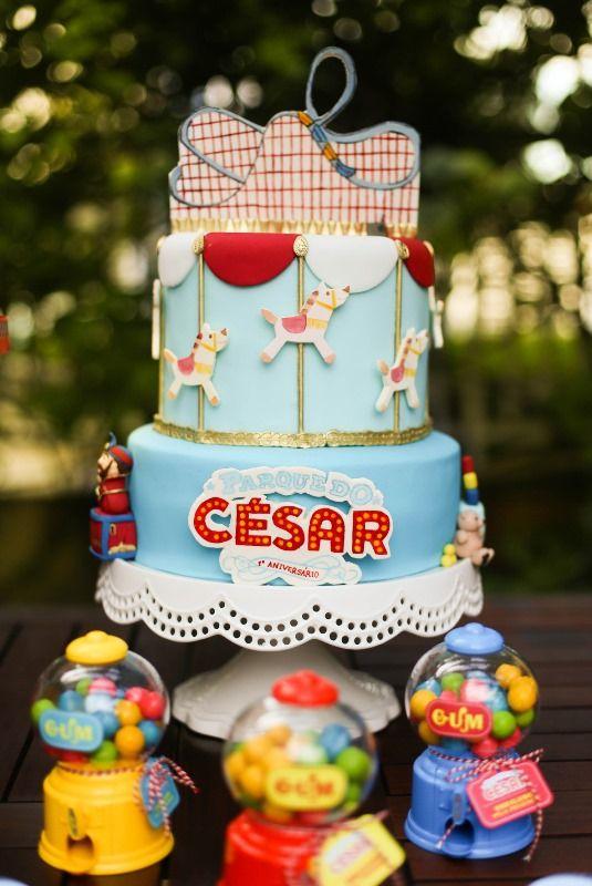 Tema criativo para festa de menino - César - Parque de diversões