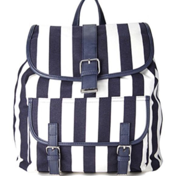 Nautical backpack Drawstring closure and adjustable shoulder straps. 15x14.5x6 Bags Backpacks