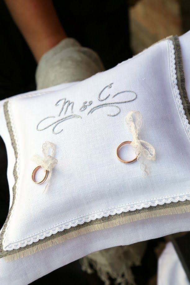 ring pillow - M and C!