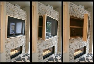 Contemporary Family Room with Flat screen tv cabinet, Dimplex wickson 34-inch linear electric fireplace - blf34