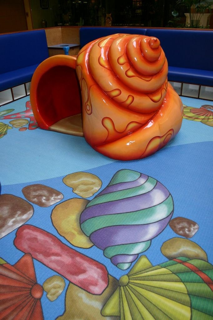 This fun seashell lives in an Underwater Play Park at Hamilton Mall  in May's Landing, NJ. #playarea #playpark