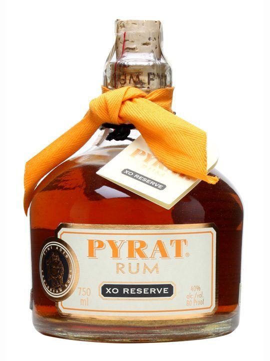 Pyrat XO Reserve Rum : £37.49 Buy Online - The Whisky Exchange - A very special amber Caribbean blended rum from Anguilla Rums Ltd in the West Indies.  A real connoisseur's rum, with a sublimely orangey, spicy flavour and nuanced finish.
