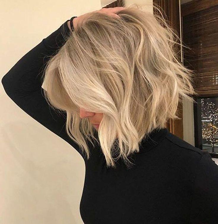 Картинка блондинка с каре без лица