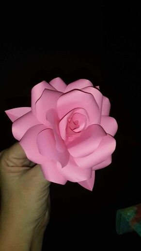 Pink paper rose for my sweet little girl