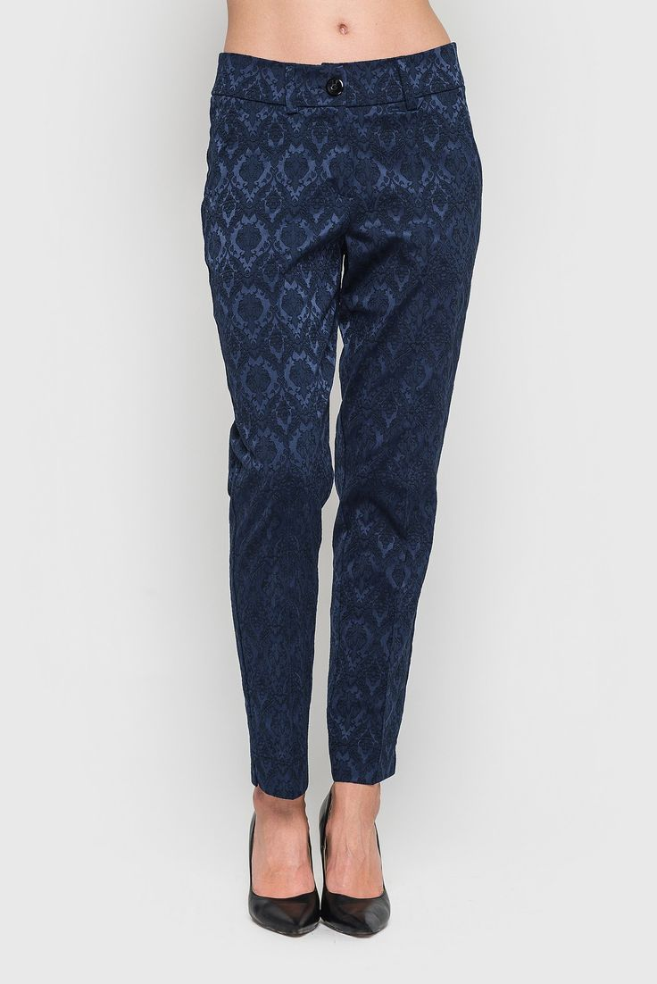 Dark-blue classic arrowed jacquard pants 29$. Narrowed 7/8 length #pants were appeared in the 50-60 years of XX century. Undoubtedly, the highlight is its non-standard length, which opens up the ankle. Notable is the fact that these pants fit perfectly into the business, romantic and zhenstvennyystyle. The arrows will make your legs more slender, and a deep color will show all your rederenny character. #VOVK