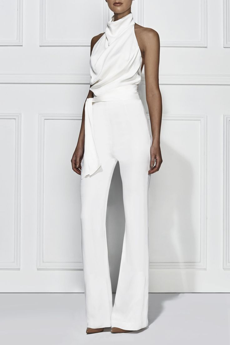 21 new white pantsuit for women for Womens white dress suit wedding