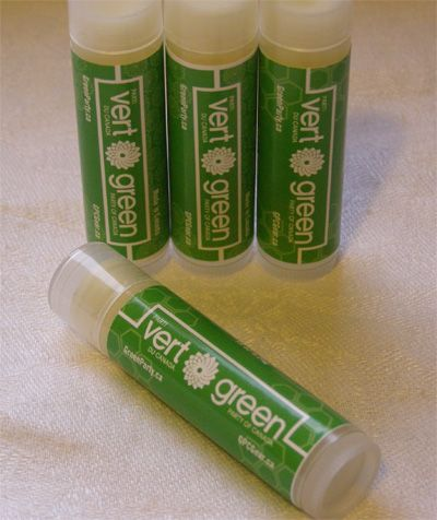 Made in Canada, all-healthy GPC Lip Balm.  Fresh and tasty Spearmint.