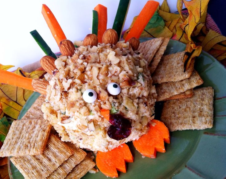 Thanksgiving Turkey Cheese Ball - Thanksgiving recipes for kids: Turn a holiday cheese ball appetizer into a silly turkey